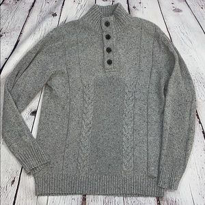 Buckle Black size XL marble gray mock neck sweater